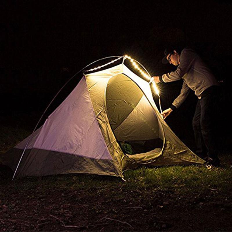 Interruptor táctil USB, tira de luz LED para tienda de campaña para acampar al aire libre, 210cm <1W