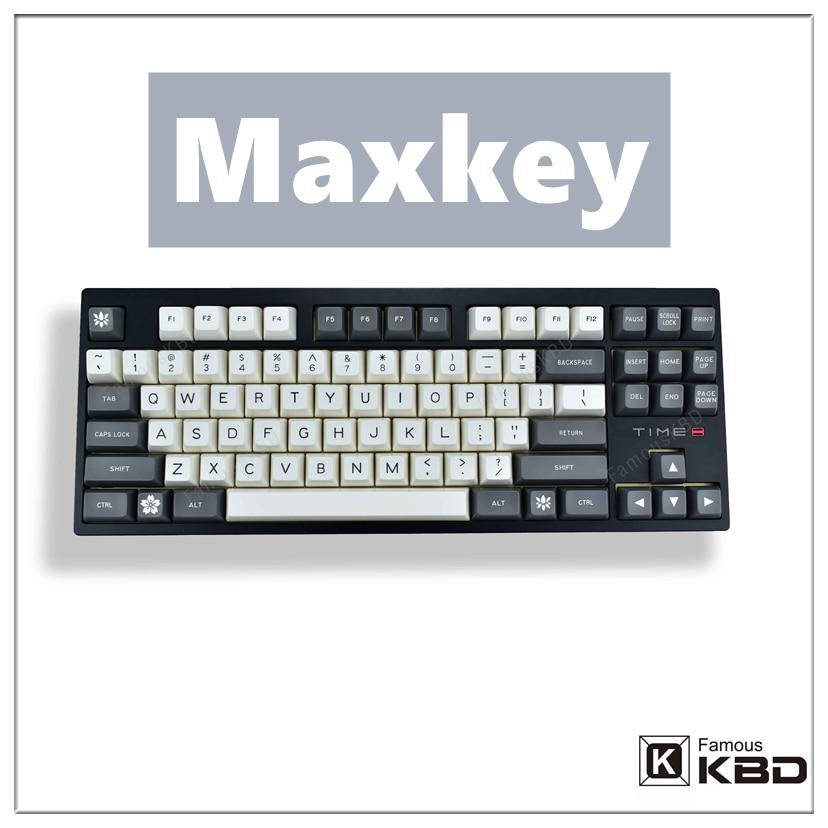 Maxkey-مجموعة مفاتيح ABS عالية الجودة للوحة المفاتيح الميكانيكية ، صب حقن بلونين ، SA