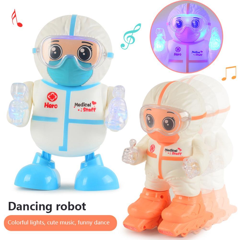 Robot de baile eléctrico, juguetes giratorios, Robot espacial, luz Musical, luz de paseo, juguetes de Robot bailarín electrónico para regalo de niños
