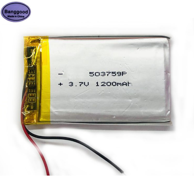 Pilas de litio recargables de polímero Lipo 3,7 V 1200mAh 503759 053759 para altavoz GPS Bluetooth productos digitales