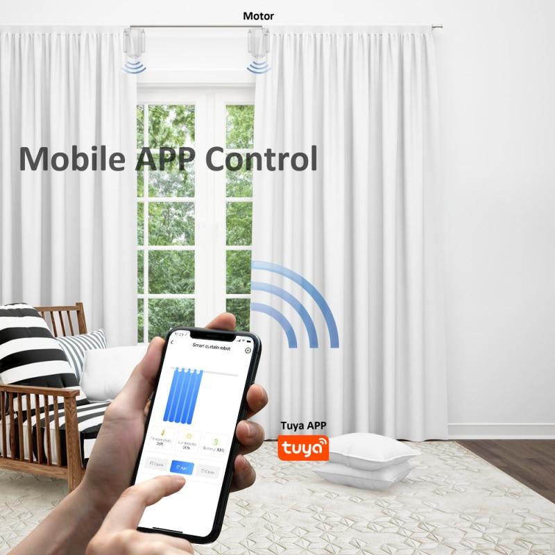 Cortinas de Rolo Cortina do Grânulo Trabalho com Alexa Tuya Bluetooth Inteligente Motorizado Corrente Puxar Motor Lluminação Sensor Google Casa wi fi