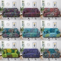 flower flora printed elastic sofa cover for living room bohemian sofa slipcover sectional couch cover l shape need buy 2pcs