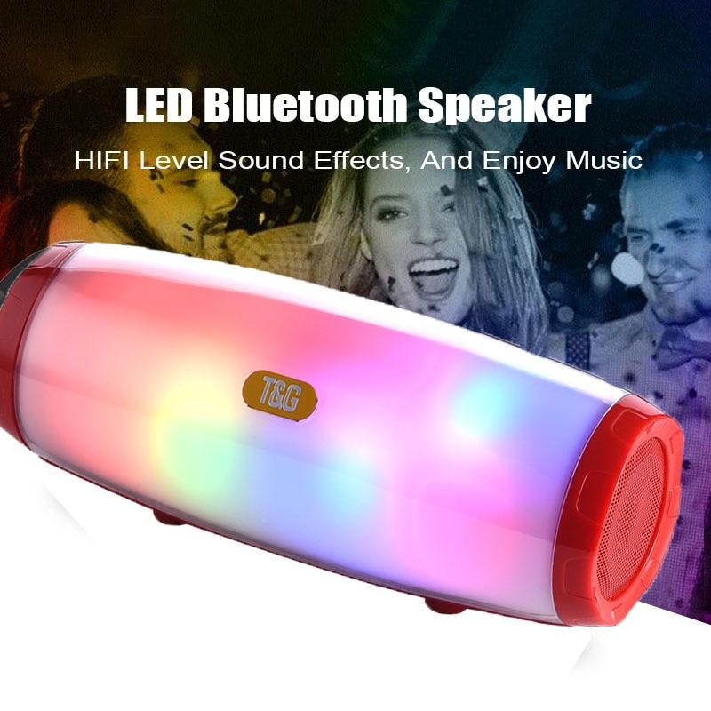 10W altavoz inalámbrico portátil con Bluetooth con baile Flash LED con MP3...