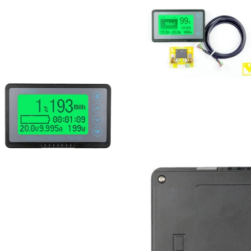 مؤشر البطارية قدرة اختبار TF03K-B مقياس الجهد متر مع جهاز مراقبة بشاشة إل سي دي لبطارية السيارة أسود