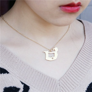 New hot-selling European and American wind yoga athletes pendant sports necklace friend gifts