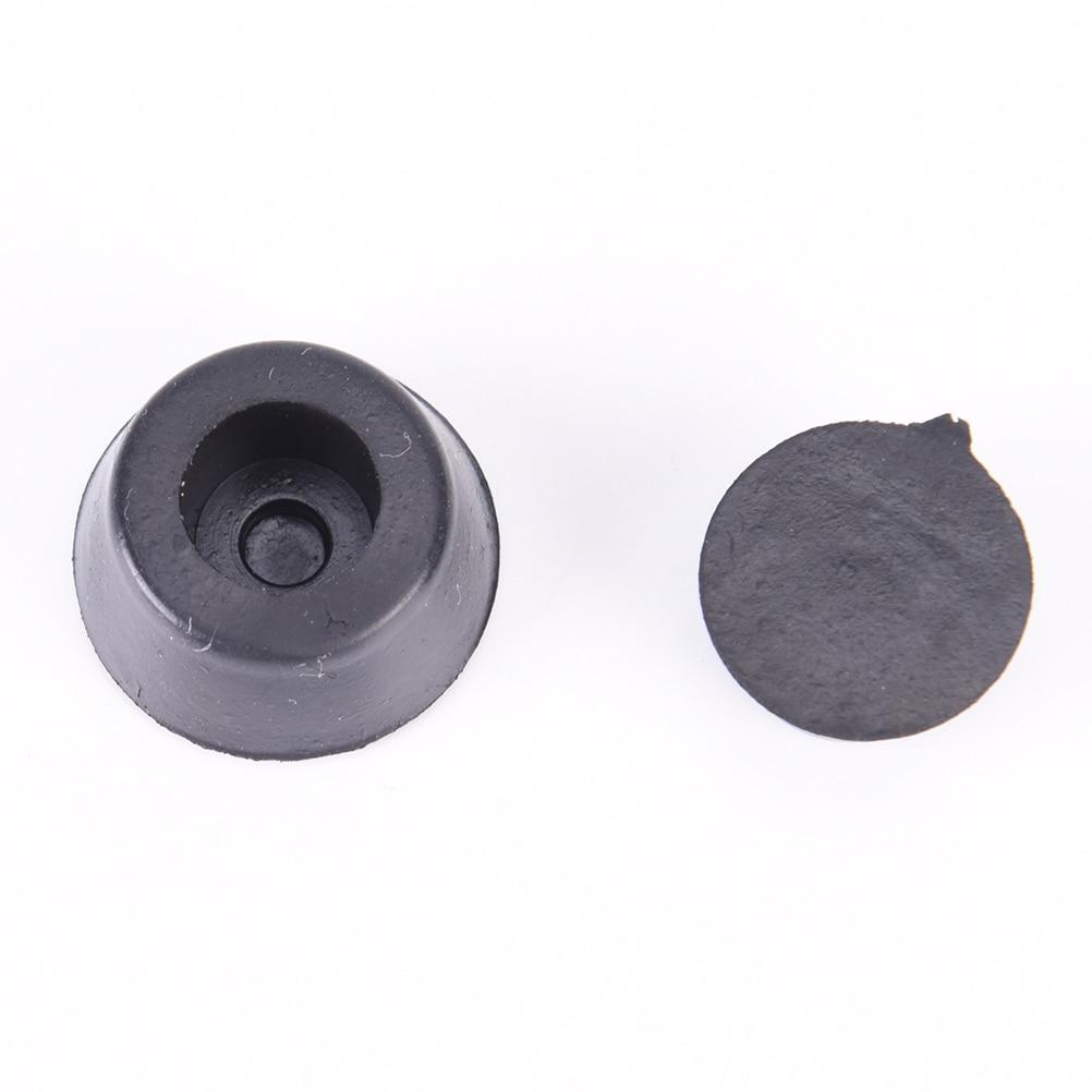 50 шт./лот универсальные черные конические Встраиваемые Резиновые бамперы оптом