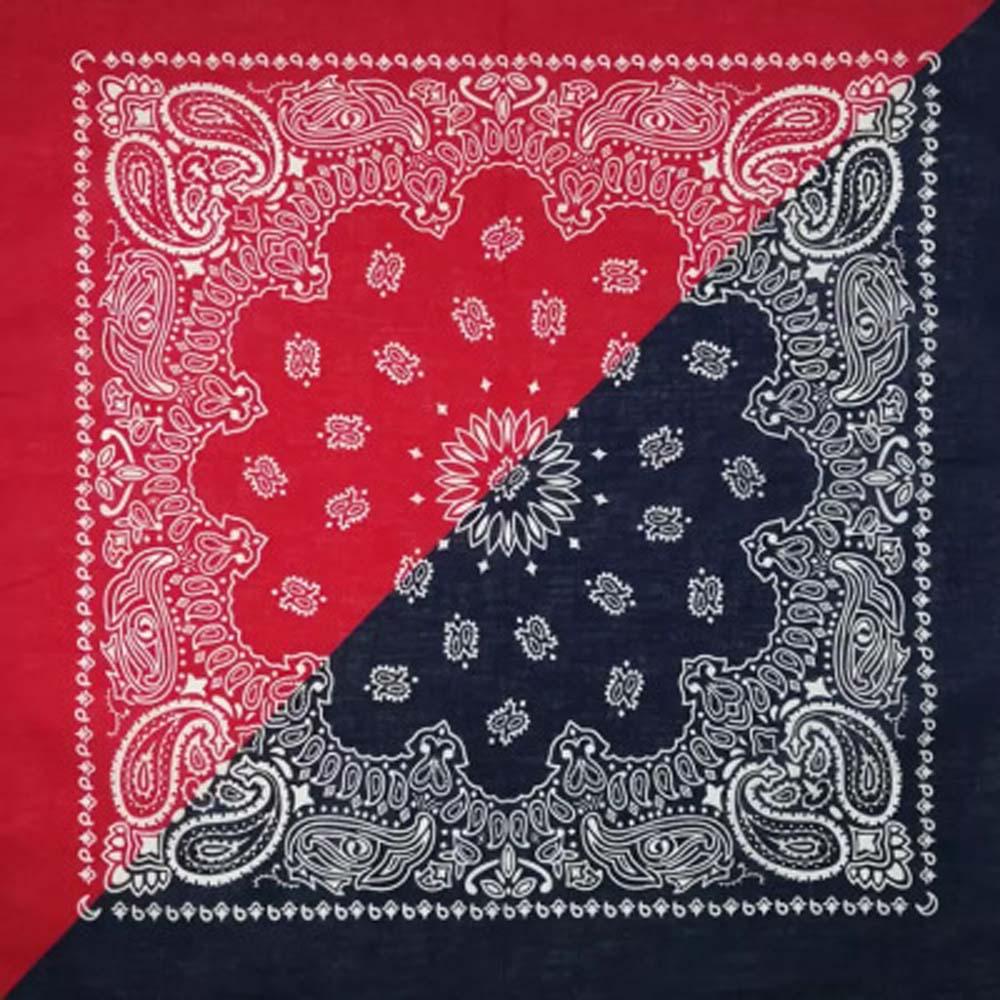 Bohemian Paisley Floral 55*55 cm doble Color bloque Unisex algodón bolsillo cuadrado bufanda diadema muñequera cuello corbata