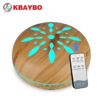 500ml electric aroma essential oil diffuser wood ultrasonic air humidifier cool mist maker led light fogger