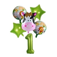 aluminum foil digital animal balloon combination forest theme tiger monkey shape childrens birthday party decoration supplies