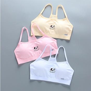 New Summer Cotton Vest Girls Bra Developmental Sling Underwear Base Student Girl 13-25 Year Clothes For Teens