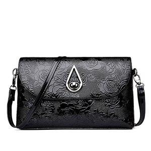 PU Leather Crossbody Bags For Women Flower Pattern Fashion Women's Shoulder Bag Female Handbag Travel Shopping Bags