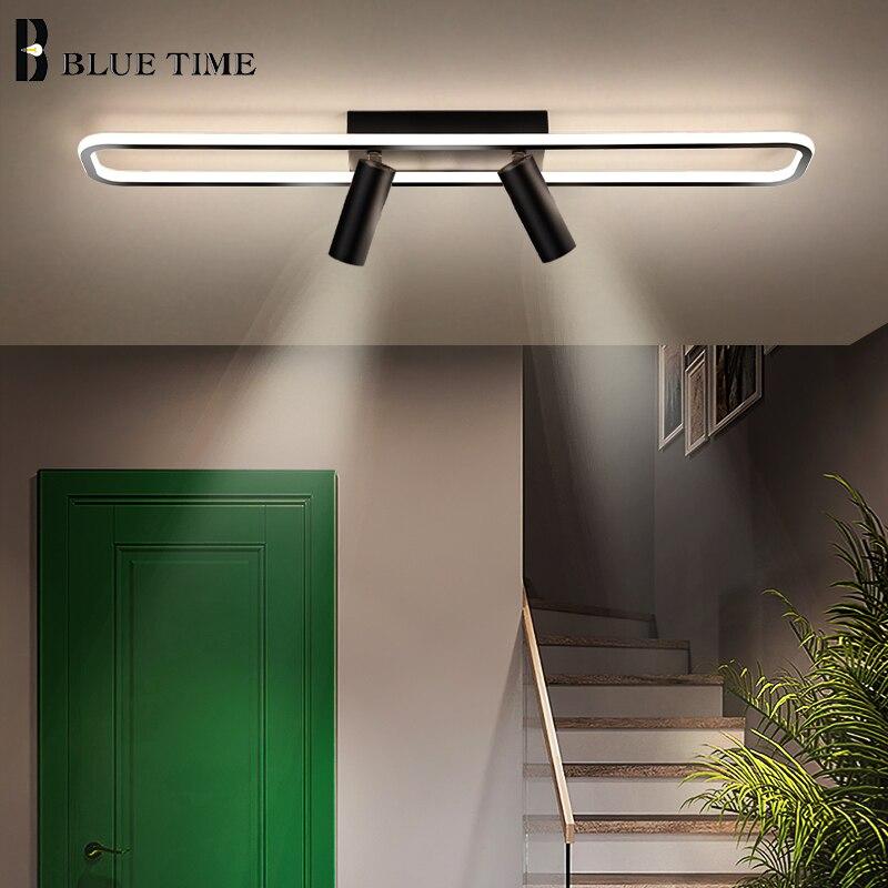 Black Led Ceiling Light 110V 220V Modern Spotlight Ceiling Lamp for Living room Dining room Kitchen Aisle Star Corridor Lights