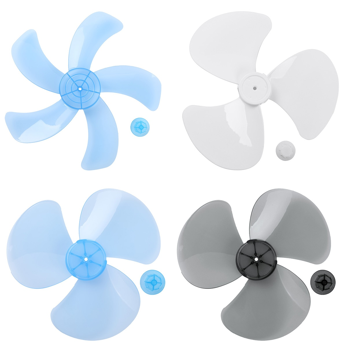 Three/Five Leaves Household Fan Blade with Nut Cover Fan Blades for Standing Pedestal Fan Table Fanner General Accessories Fans