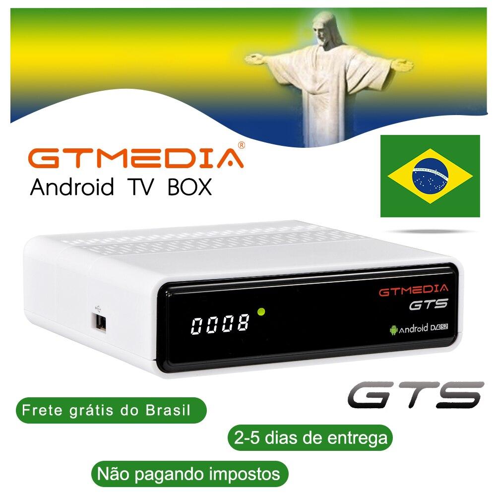 GTmedia GTS-цифра спутниковый телевизионный ресивер Android 6,0 TV BOX DVB-S2 2/8GB Оперативная память Встроенная память tv box brasil M3U запас в Бразилии склад freesat