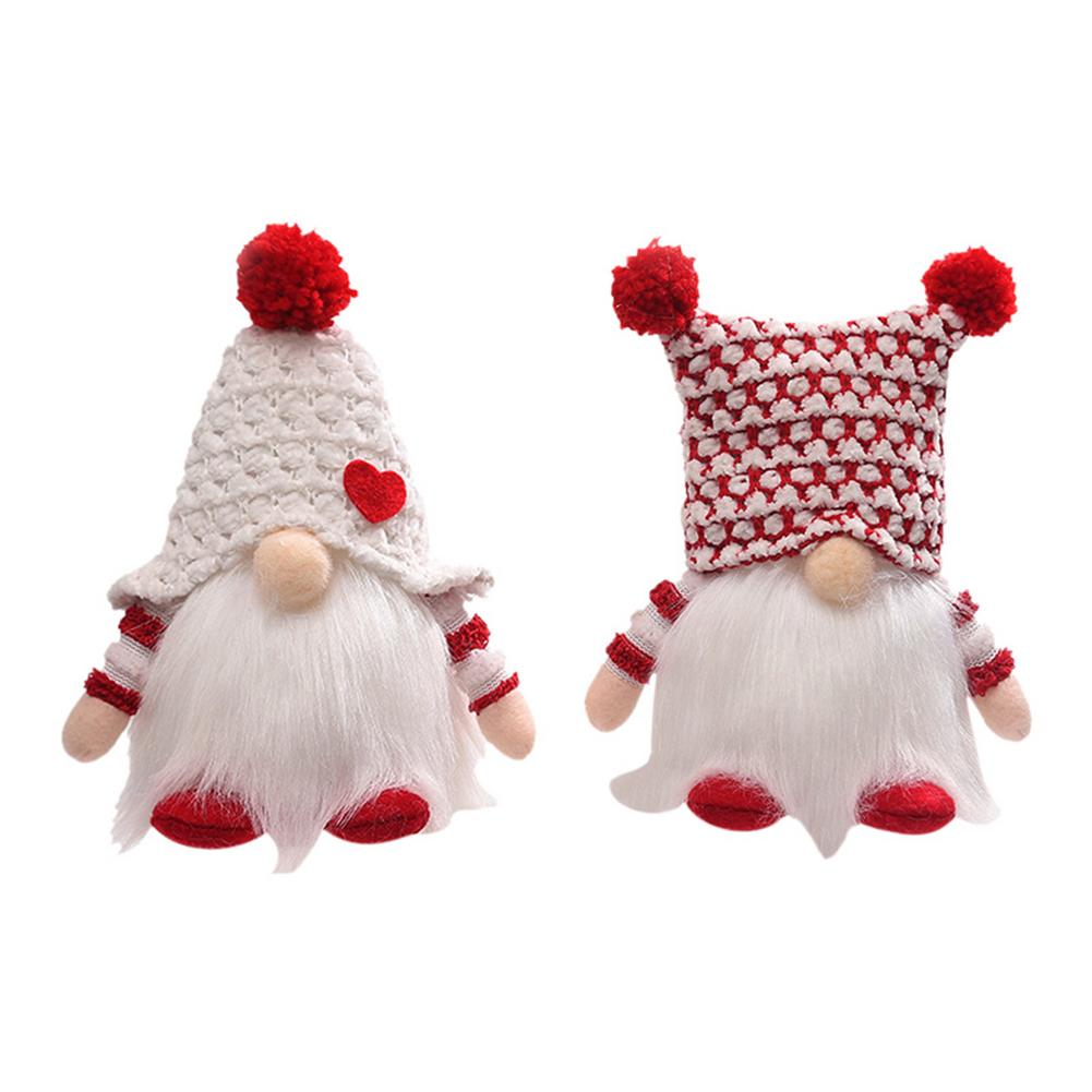 Christmas Swedish Gnome Santa Plush Toys Doll Ornaments Holiday Home Party Tomte Plushie For Room Decor