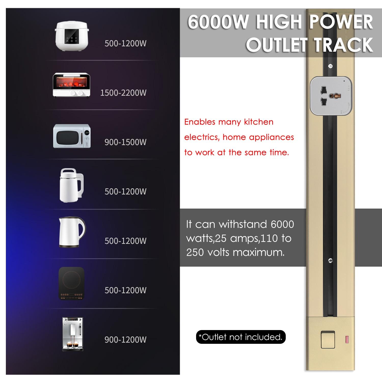 مأخذ كهربائي المسار سطح شنت مخرج طاقة المسار 60 سنتيمتر مآخذ المطبخ المسار الجدار المخرج تمديد انزلاق السكك الحديدية