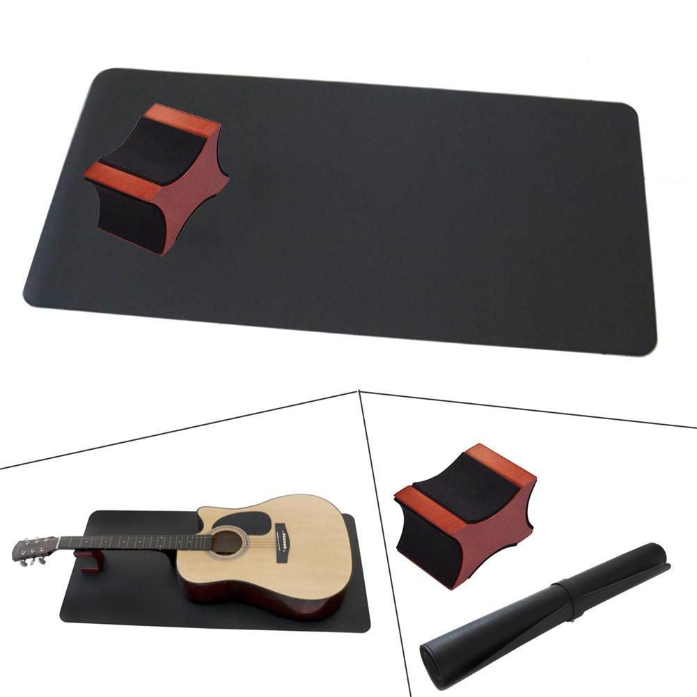 1 Set Multifunction 2-in-1 Guitar Neck Rest Soft Surface Protection Pad Set Musical Instrument Care Tool