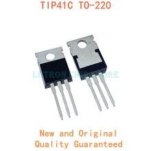 10 stücke TIP41C TIP41 ZU-220 TO220 Bipolar Transistoren neue und original