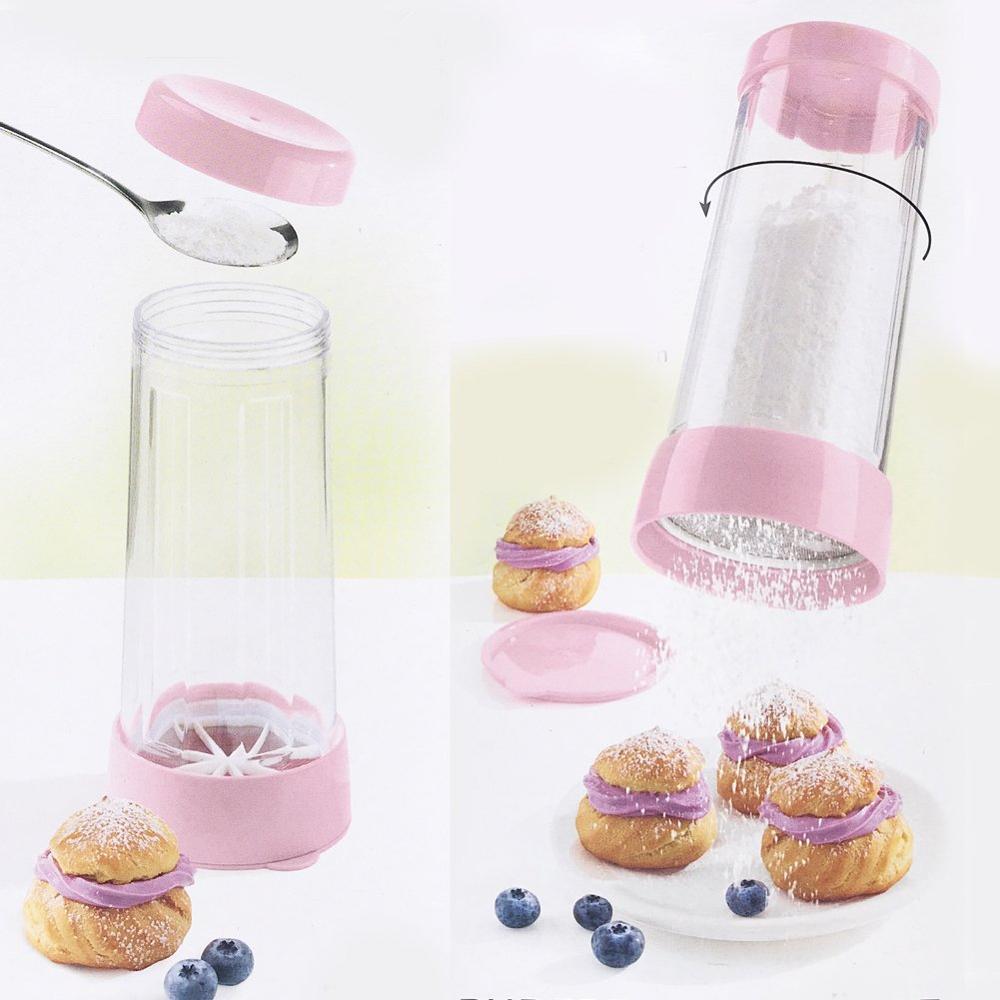 Puderzucker Mühle Pulver Zucker Shaker Spender, Kakao Mehl Kaffee Zucker Shaker mit Deckel Dredge Gläser, 12 unzen, Zucker Mehl Sichter