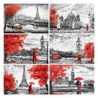 diy 5d full diamond painting embroidery scenery paris street couple cross stitch square round drill mosaic christmas hobby gift