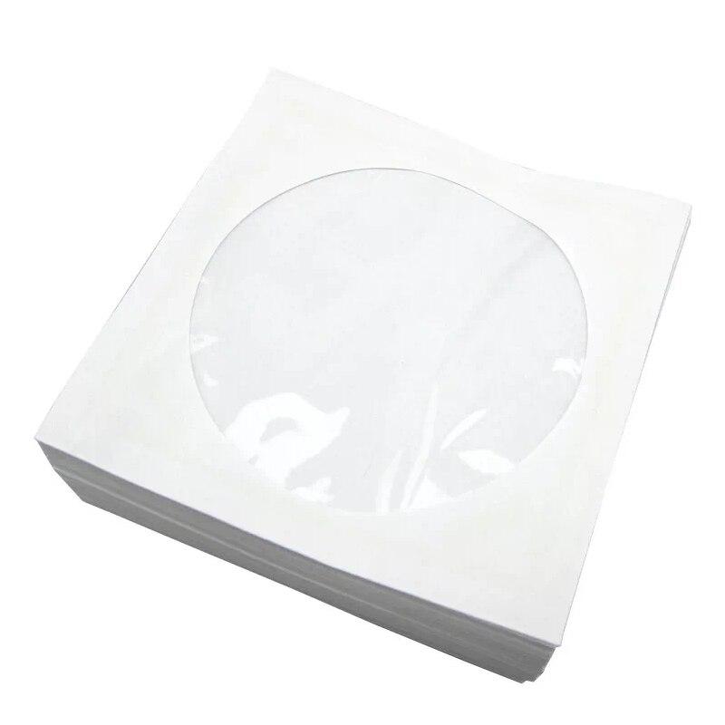 100 unids/lote bolsa de papel de embalaje bolsa de embalaje CD/DVD 12 Cm CD bolsa blanca CD Set 100 paquetes