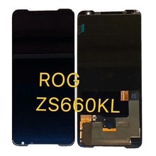 """Для 6,59 """"ASUS ROG Phone 2 Phone Ⅱ ZS660KL активно матричные осид, ЖК дисплей Дисплей + кодирующий преобразователь сенсорного экрана в сборе для ASUS ROG Phone2 ЖК дисплей Дисплей"""