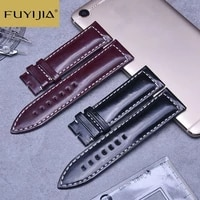 new business men strap brand watch custom strap 20mm 21mm 22mm cordovan watchbands genuine leather belt waterproof watch band 18