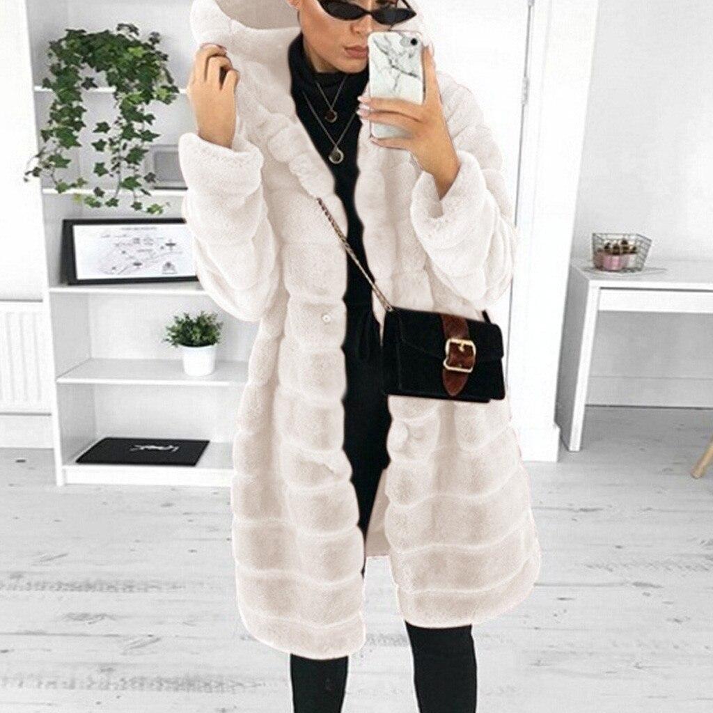 S-4xl casacos de vison mulheres 2020 inverno moda superior sólido casaco de pele do falso elegante grosso quente outerwear falso casaco de pele chaquetas mujer