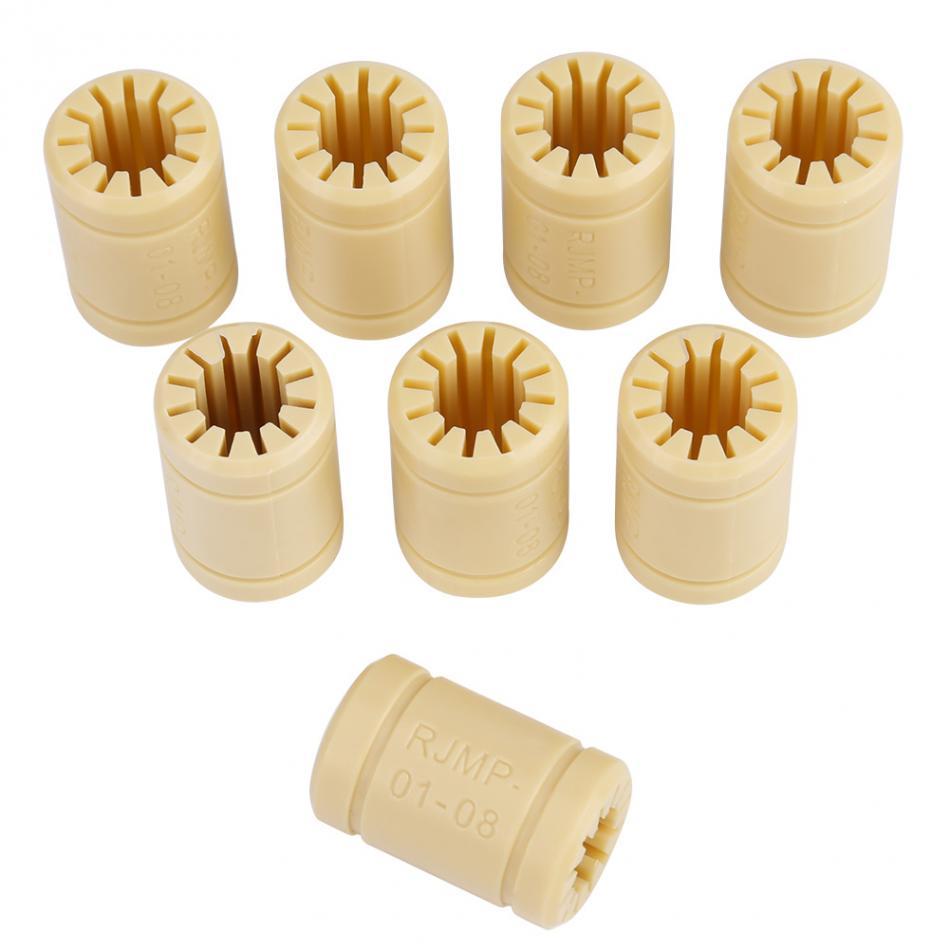 8 unids/set rodamiento de impresora 3D impresora 3D Polímero Sólido LM8UU rodamiento eje de 8mm