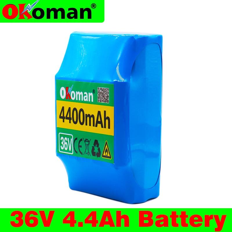 Okoman 36V 4.4Ah 4400 mAh high drain 2 wheels, Electric scooter balancing 18650 lithium battery pack for self-balancing fit