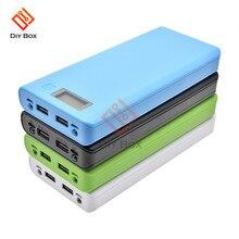 Bricolage 8x18650 Portable batterie boîte chargeur de batterie externe coque en plastique boîtier sans soudure LCD affichage USB batterie externe boîte sans batterie