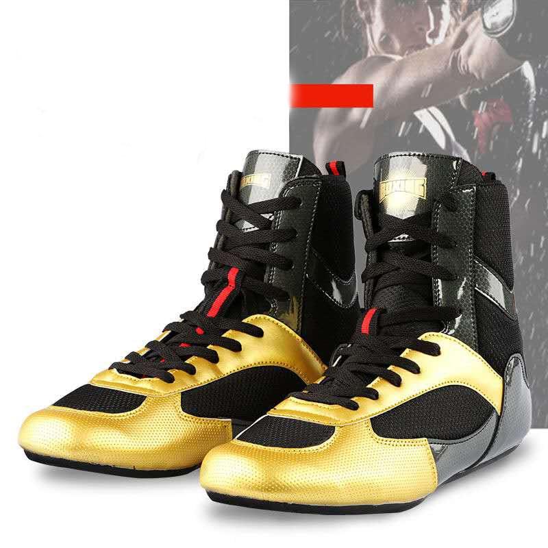 2020, zapatos profesionales de lucha de boxeo para hombres, suela exterior blanda, zapatillas de combate transpirables con cordones, botas de combate de entrenamiento, talla 35-46