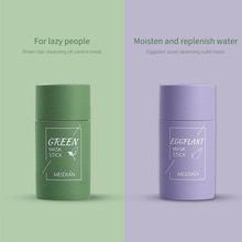 Green Tea Stick Mask Cleansing Mask Stick Oil Control Eggplant Acne Skin Care Moisturizing Blackhead
