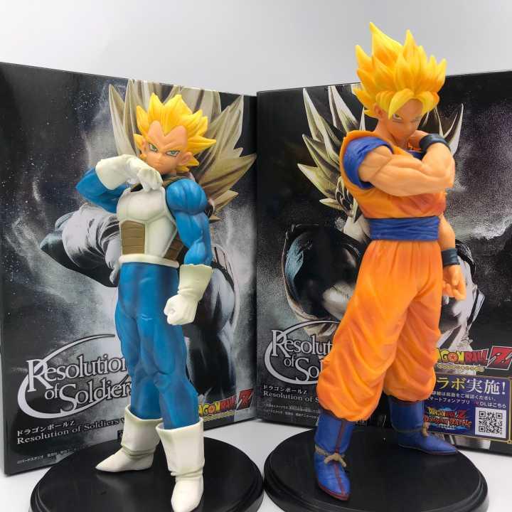 2 teile/satz Dragon Ball Z Fusion Sohn Goku Gogeta Broly Super Saiyan Awakening Pai PVC Anime Figur Sammlung DBZ Gohan modell