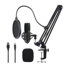 Meilleures offres Kit de Microphone à condensateur denregistrement en Studio pour le chant en ligne de diffusion en réseau