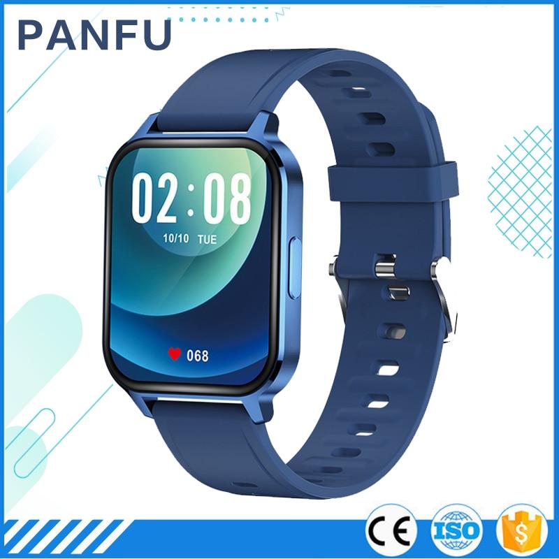 new 2021 smart watch men male smartwatch 1.7 inch Full Touch Fitness Tracker Blood Pressure Clock Women Smart Watch for Xiaomi