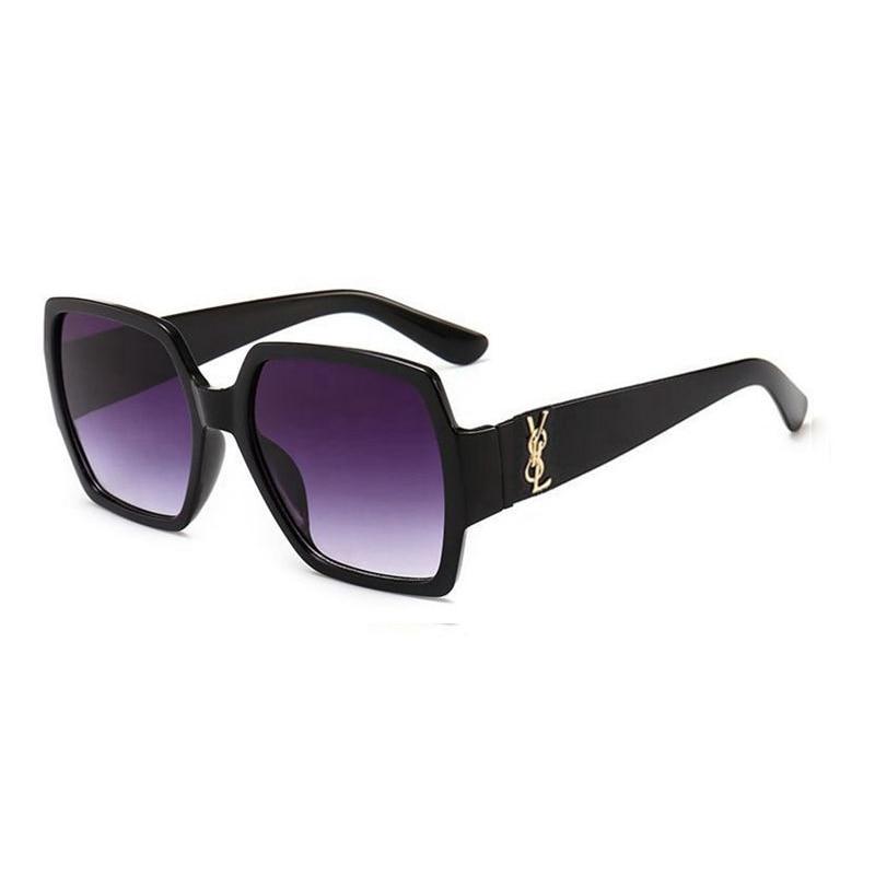 2021 Womens Sunglasses Brand Designer Glasses Classic Retro Square Sun Ladies Fashion Plastic Frame Eyewear Men