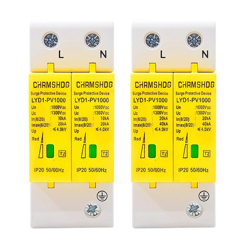 Disyuntores enchufables 20/40KA hogar 2 polos SPD hogar Protector contra sobretensiones Dispositivo de descargador de bajo voltaje