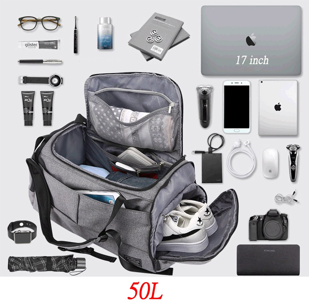 50L Multi-function layered Gym bag for Man Women Shoes compartment Backpack Handbag Shoulder Bags Travel Backpack Fitness Bag