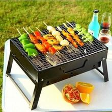 Grille de Barbecue pliable en acier   Support dextérieur Portable pour Barbecue charbon de bois Camping, outils de Barbecue en Camping