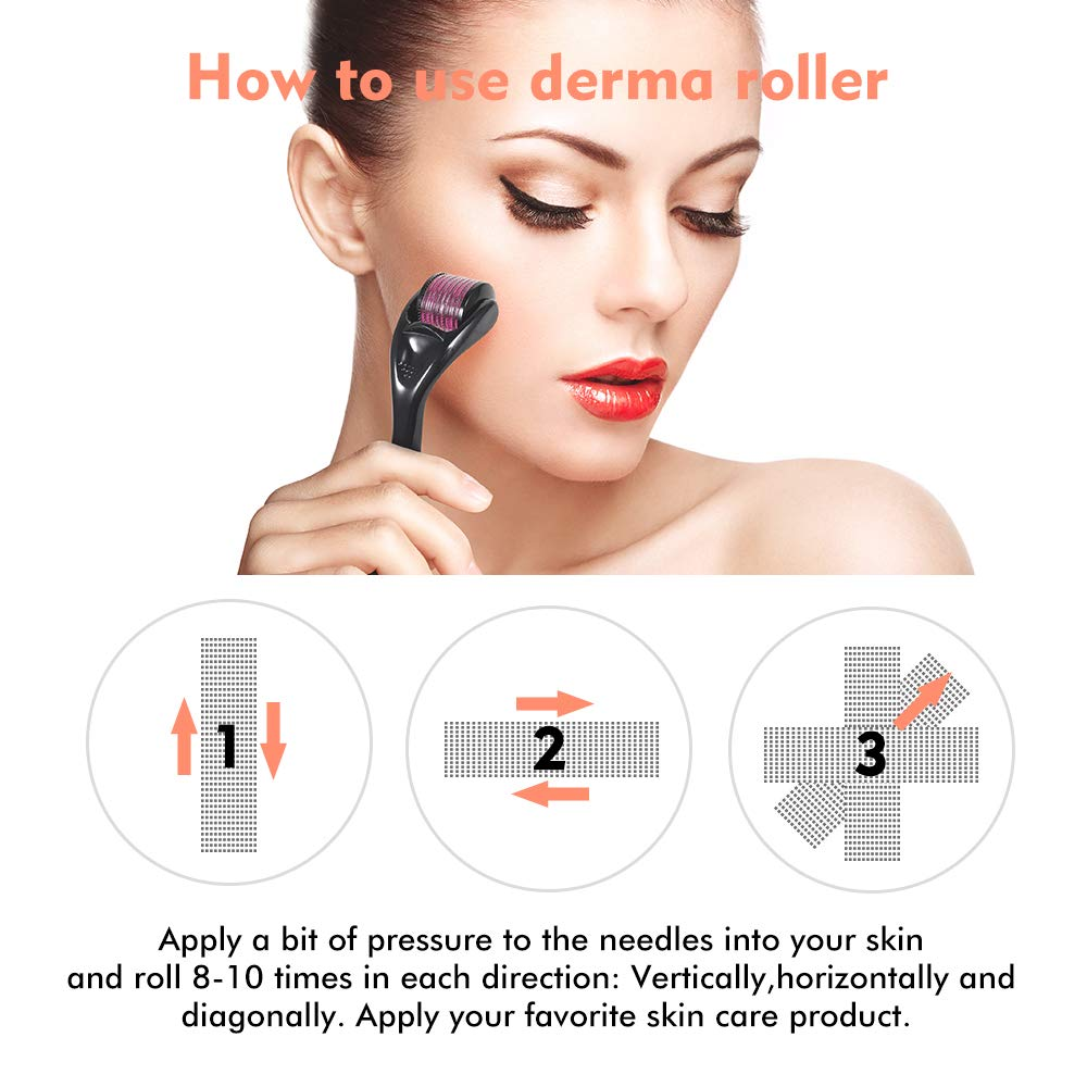 Healthy Care 540 Derma Roller needle Instrument for Face 0.2mm\0.25mm\0.3mm - Titanium Needles Skin Care Tool