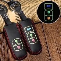 for mazda cx 5 axela atenza cx 7 cx 3 cx 4 cx 8 mx5 m2 m3 m5 gt smart buttons leather car key case decoration auto accessory