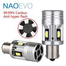 NAOEVO P21W LED Canbus 1156 PY21W لا خطأ BA15S 26 واط 3000Lm 12 فولت BAU15S لسيارات BMW E60 بدوره مصباح إشارة Blub لا فرط فلاش العنبر