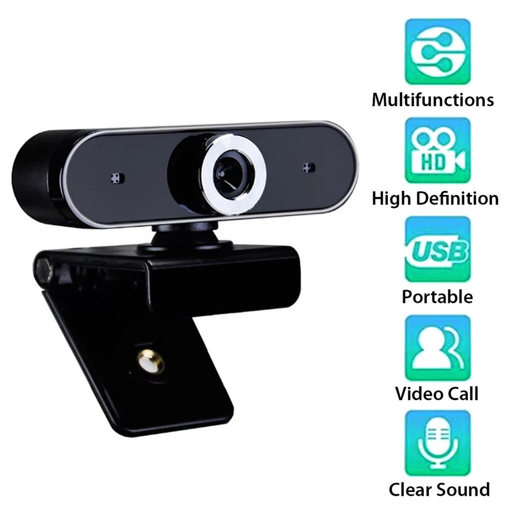 Productos más vendidos 2020 Webcam 12MP micrófono incorporado USB Plug And Play Live Course soporte de cámara de conferencia dropshipping