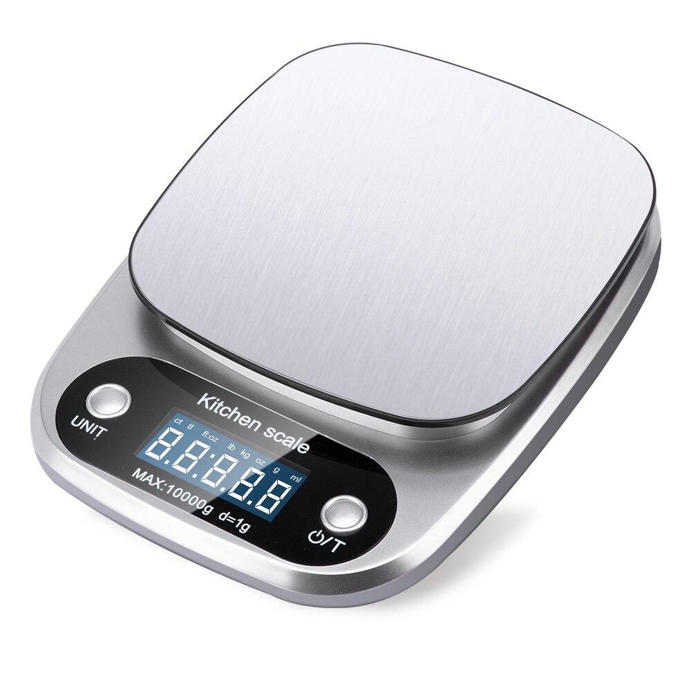 Цифровые весы 5 кг/10 г 1 г/0,1 г, портативные электронные весы с ЖК-дисплеем, кухонные весы, почтовые, пищевые весы, измерительные весы, весы