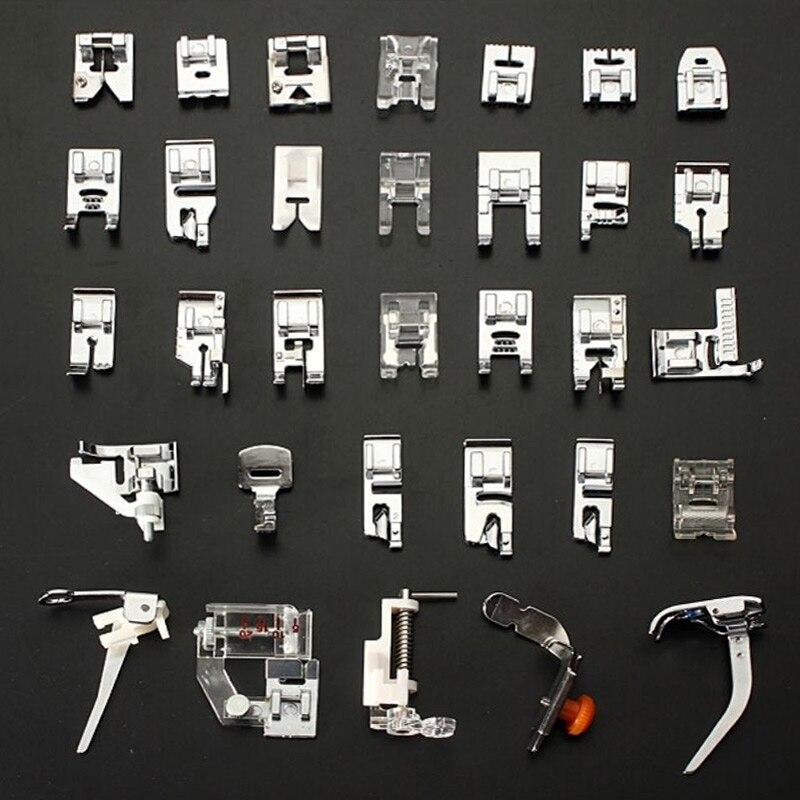Accesorios para máquinas de coser con prensatelas, accesorios para prensatelas, juego de pedales DIY para Tartas de retazos, de 7 a 52 Uds., juego de herramientas de costura