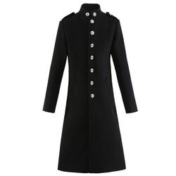 Casacos de inverno dos homens de lã sólida manga comprida casacos de homem casacos streetwear moda longo trincheira outerwear 2020 4xl