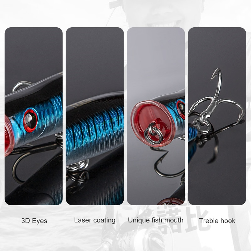 NOEBY Feed Popper Fishing Lures 155mm 52g Top Water Wobbler Saltwater Artificial Hard Baits Wobblers For Pike 9070 Fishing Lure enlarge