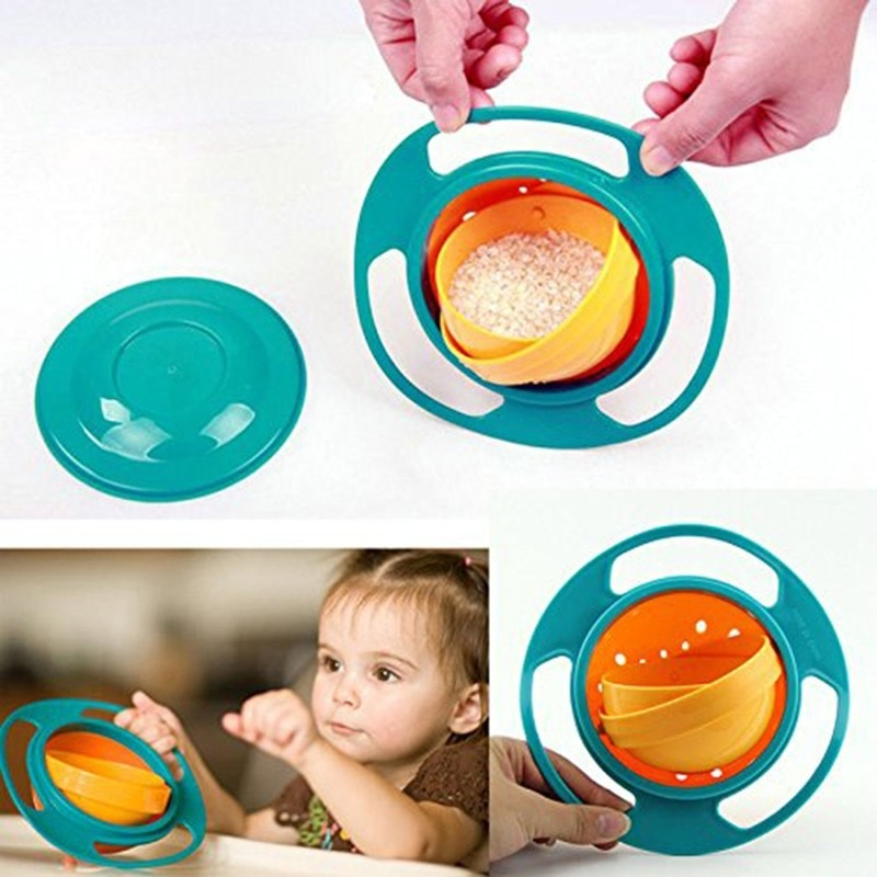 1PC Universal Gyro for Smooth Degrees Bowl Anti Bowl Gyroscopic Kids Rotation Bowl Dishes 360 Baby Spill Eco Friendly 2021