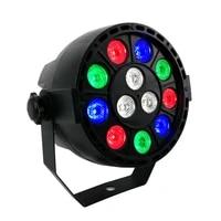 shehds led flat par 12x3w rgbw lighting professional led stage lights effect dmx512 master slave dj disco party